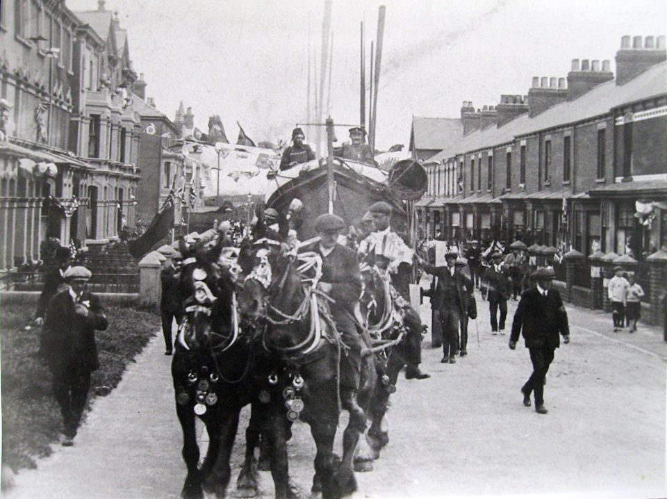 Withernsea Lifeboat Princes Avenue, the Coronation parade 1910